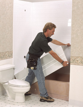 Fotogalerie renovace van akryl tovou vlo kou for How to install a tub liner